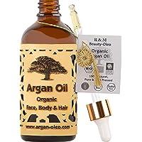 R&M Arganolja organisk kallpressad - Marockansk fairtradeolja för hår, ansikte, naglar och läppar samt mot ärr och…