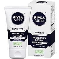 NIVEA Men Sensitive Protective Lotion - Moisturize With Broad Spectrum SPF 15 -...