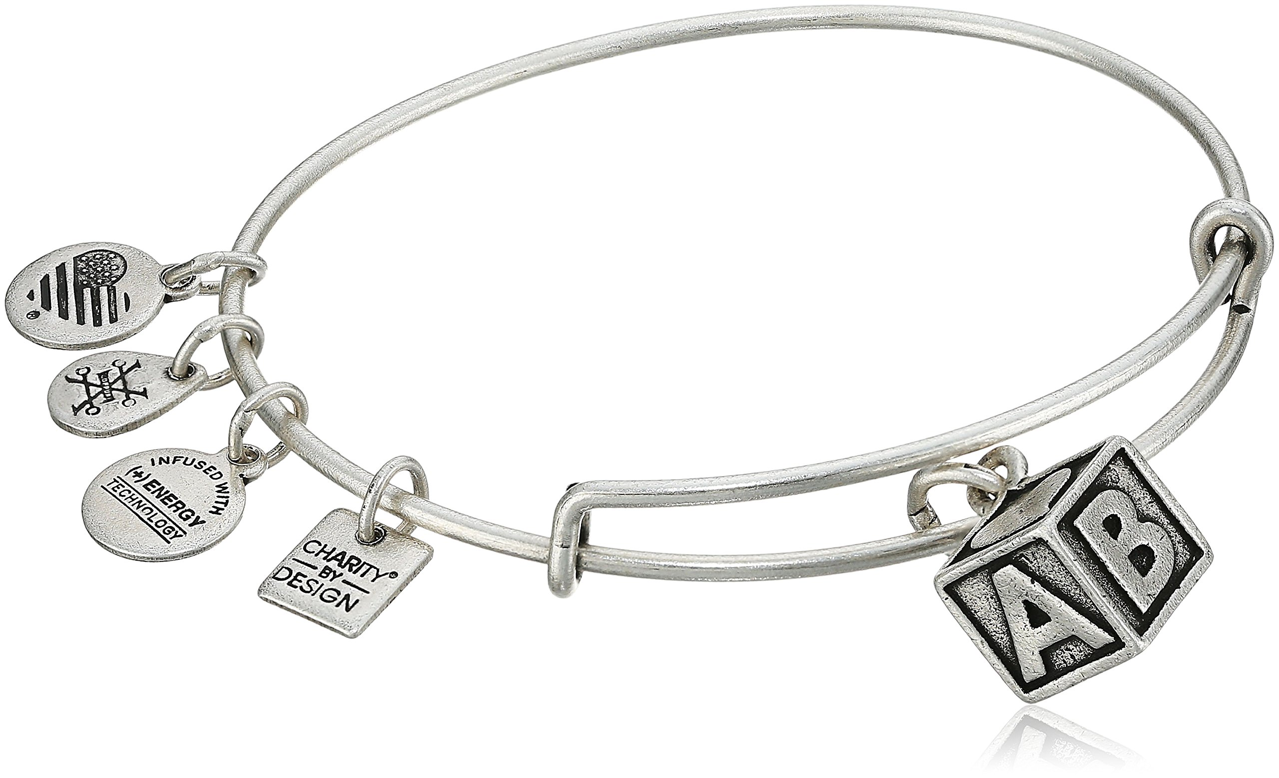 Alex and Ani Charity By Design Baby Block Rafaelian Silver Bangle Bracelet