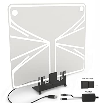 BESTHING TV Antenna, Indoor, Portable, 50 Mile Range, Paper-thin,