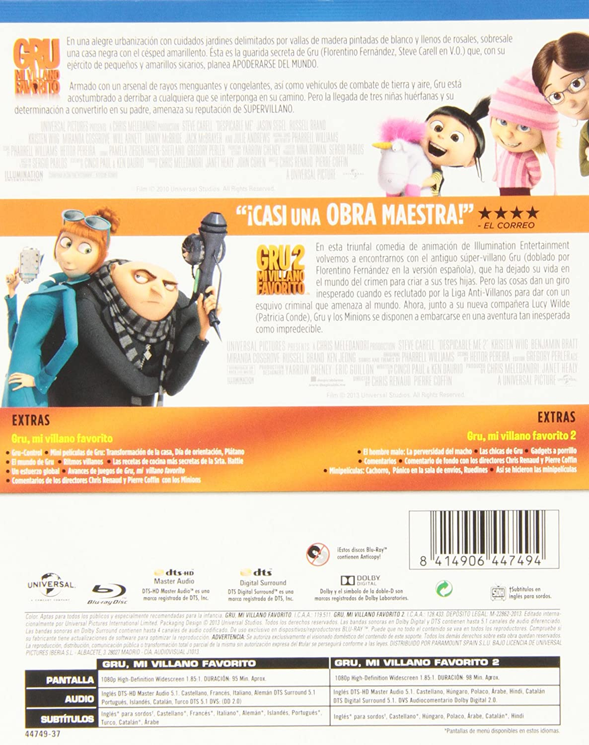 Amazon.com: Pack: Gru. Mi Villano Favorito 1+2: Movies & TV