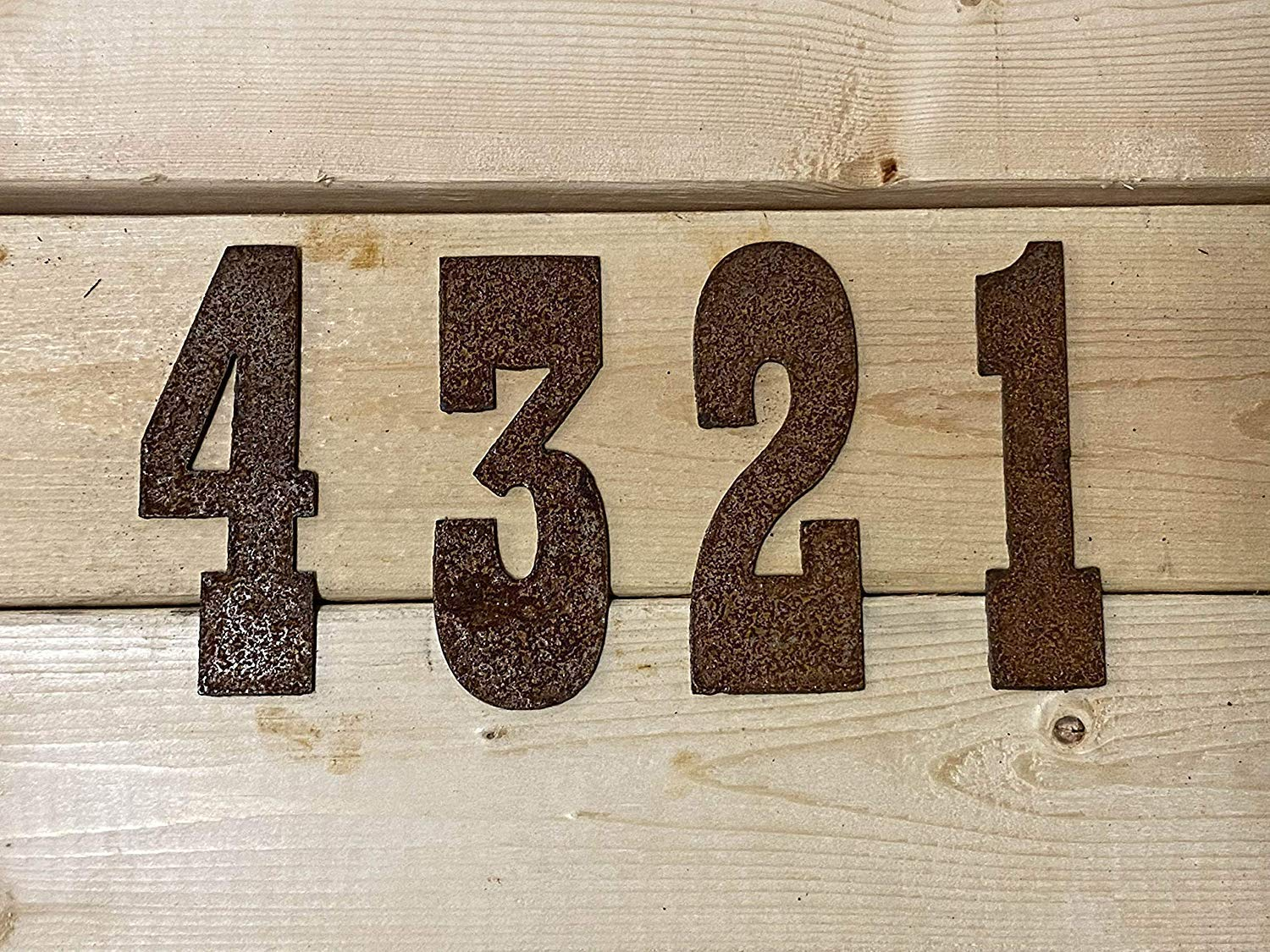 6 Inch Rusty Metal Numbers Farmhouse Decor