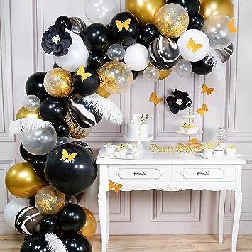 Amazon.com: PartyWoo - Juego de globos de color dorado y ...