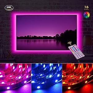 TV Tira LED Iluminación Luz Interior Coche,4*50cm Bonega LED Iluminación...