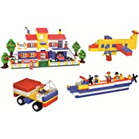 Multi Coloured 900+Pcs Mega Jumbo Building Blocks with Attractive Blocks and Smooth Rounded Edges - Building Blocks for Kids as Well as Adults (900+ Blocks) - Blocks Game