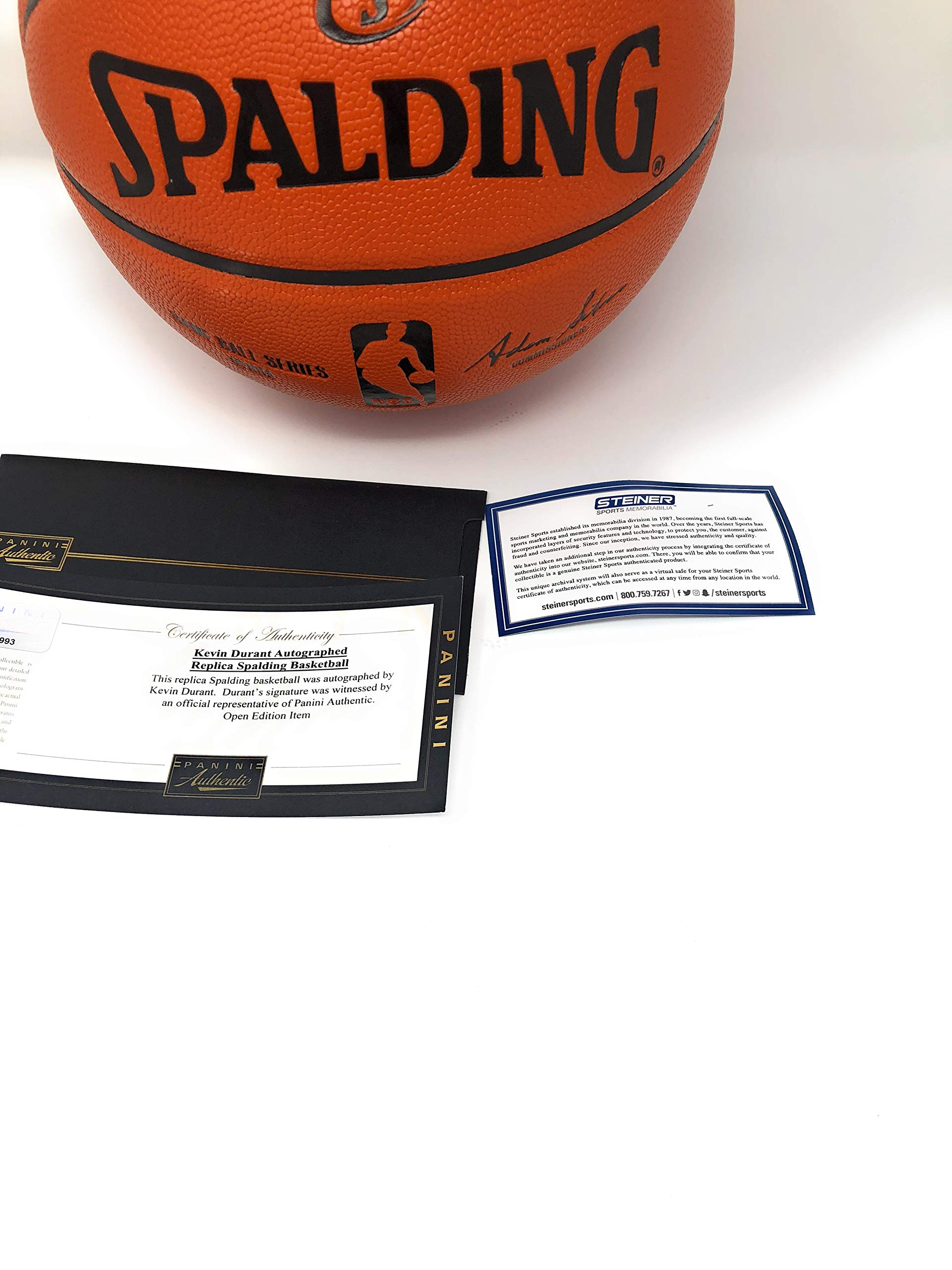 Stephen Curry Kevin Durant Golden State Warriors Dual Signed Autograph NBA Game Basketball Silver Ink Steiner Sports & Panini Authentic Certified
