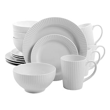 Gibson Home Josephine Café 16 Piece Dinnerware Set, White