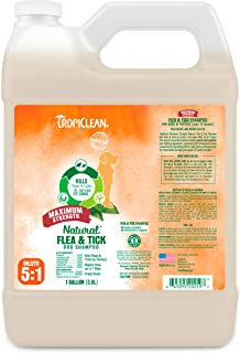 product image for TropiClean Natural Flea & Tick Shampoos for Dogs - Made in USA - Kills 99% of Fleas, Ticks, Larvae, Eggs by Contact - EPA-Approved Cedarwood & Lemongrass Oil