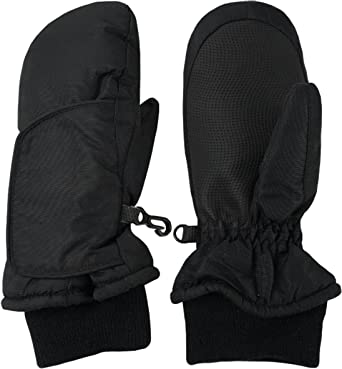 NIce Caps Kids Easy-On Wrap Elbow Length Winter Mittens Insulated and Waterproof