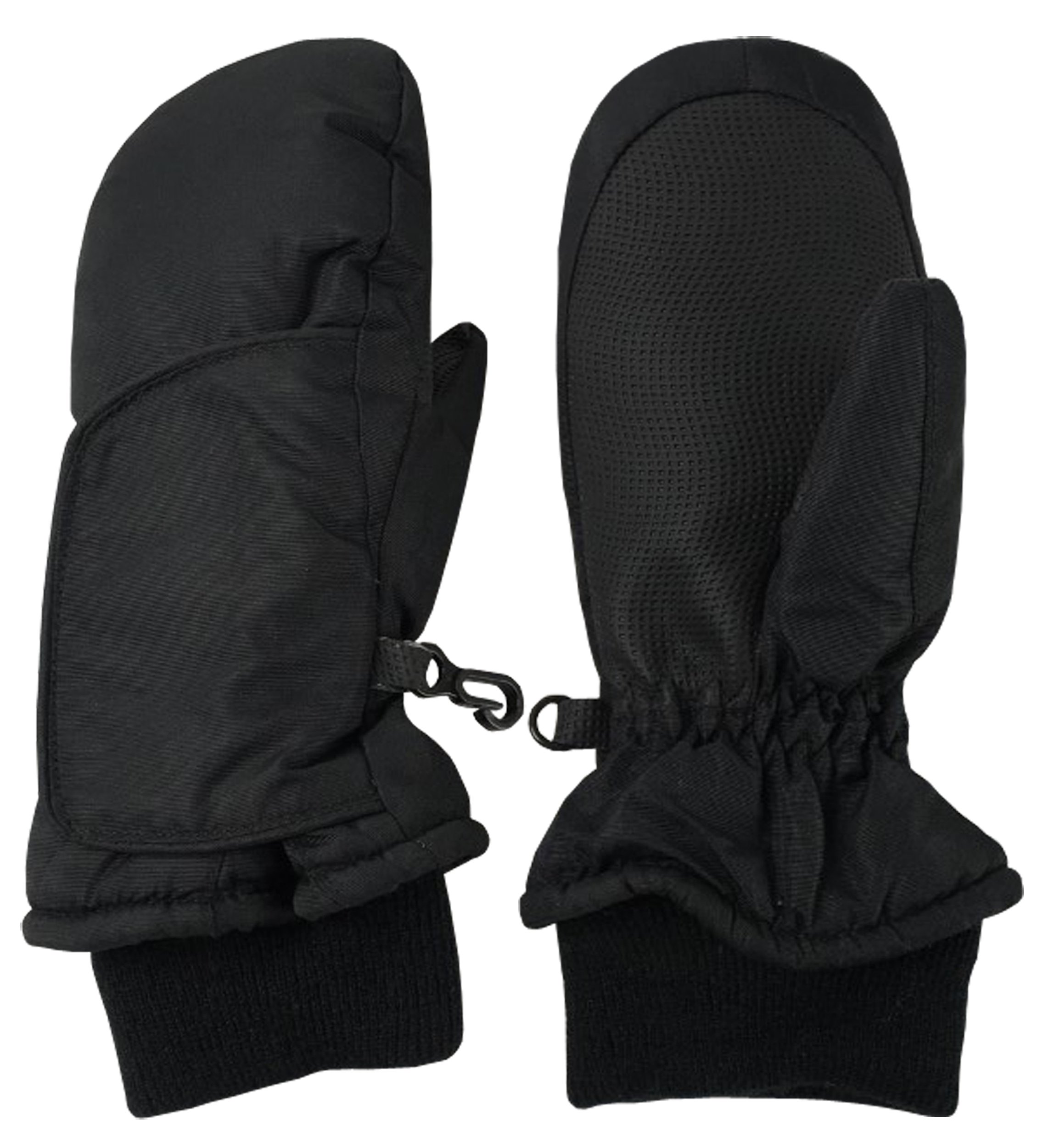 N'Ice Caps Kids and Baby Easy-On Wrap Waterproof Thinsulate Winter Snow Mitten (Black 3, 2-3 Years) by N'Ice Caps