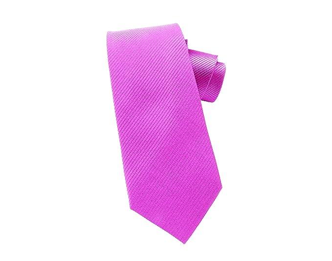 Corbata rosa fuchsia, fabricada a mano, 100% seda, el epítome del ...
