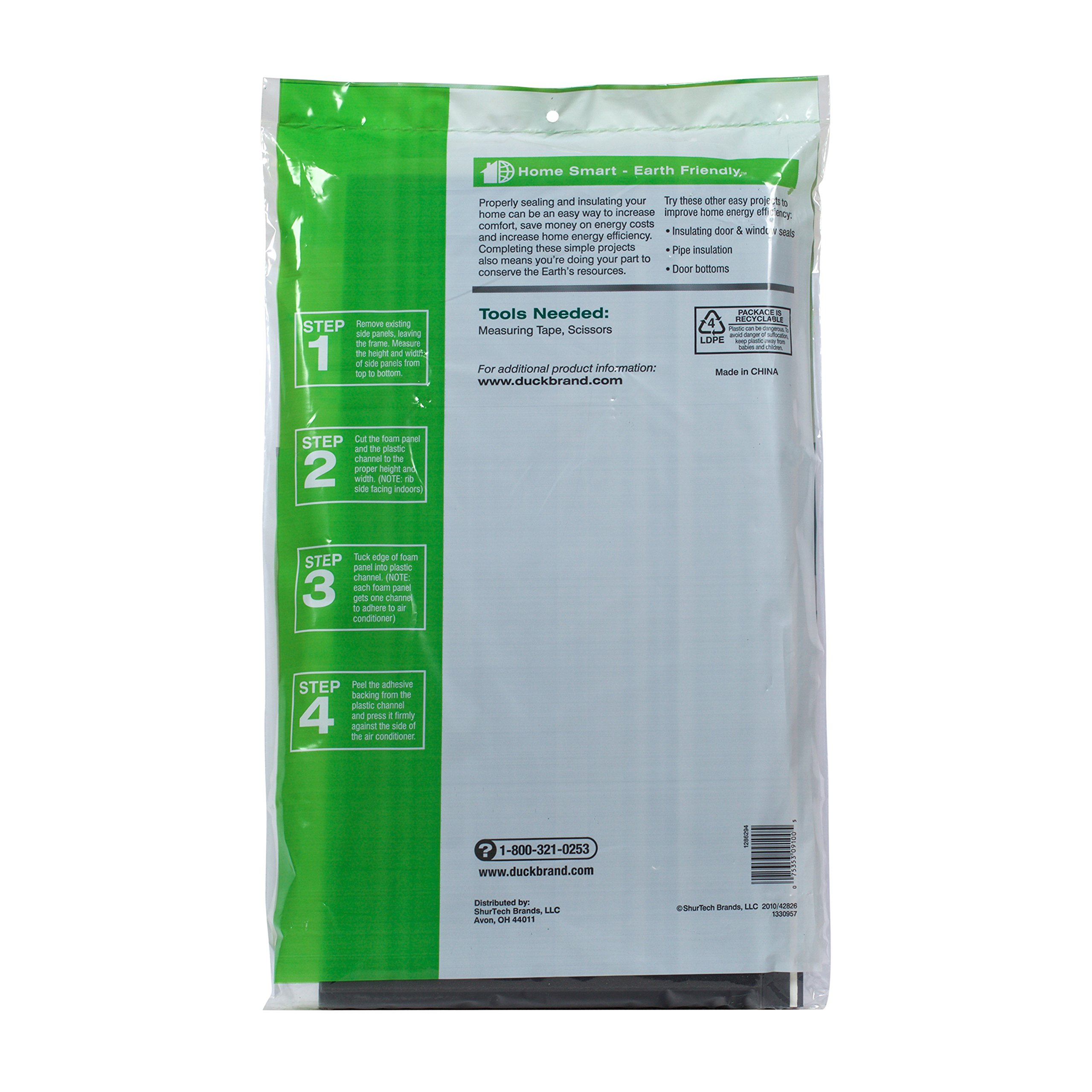 Duck Brand Air Conditioner Foam Insulating Panels, 18-Inch x 9-Inch x 7/8-Inch Each, 1286294 by Duck (Image #2)