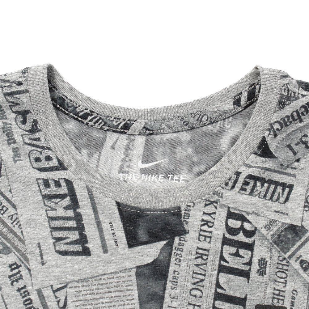 Camiseta Nike Dri-fit Kyrie Newspapper Masculina - Cores(cinza) Tamanho  Camiseta(gg)  Amazon.com.br  Amazon Moda 230b3037d0237