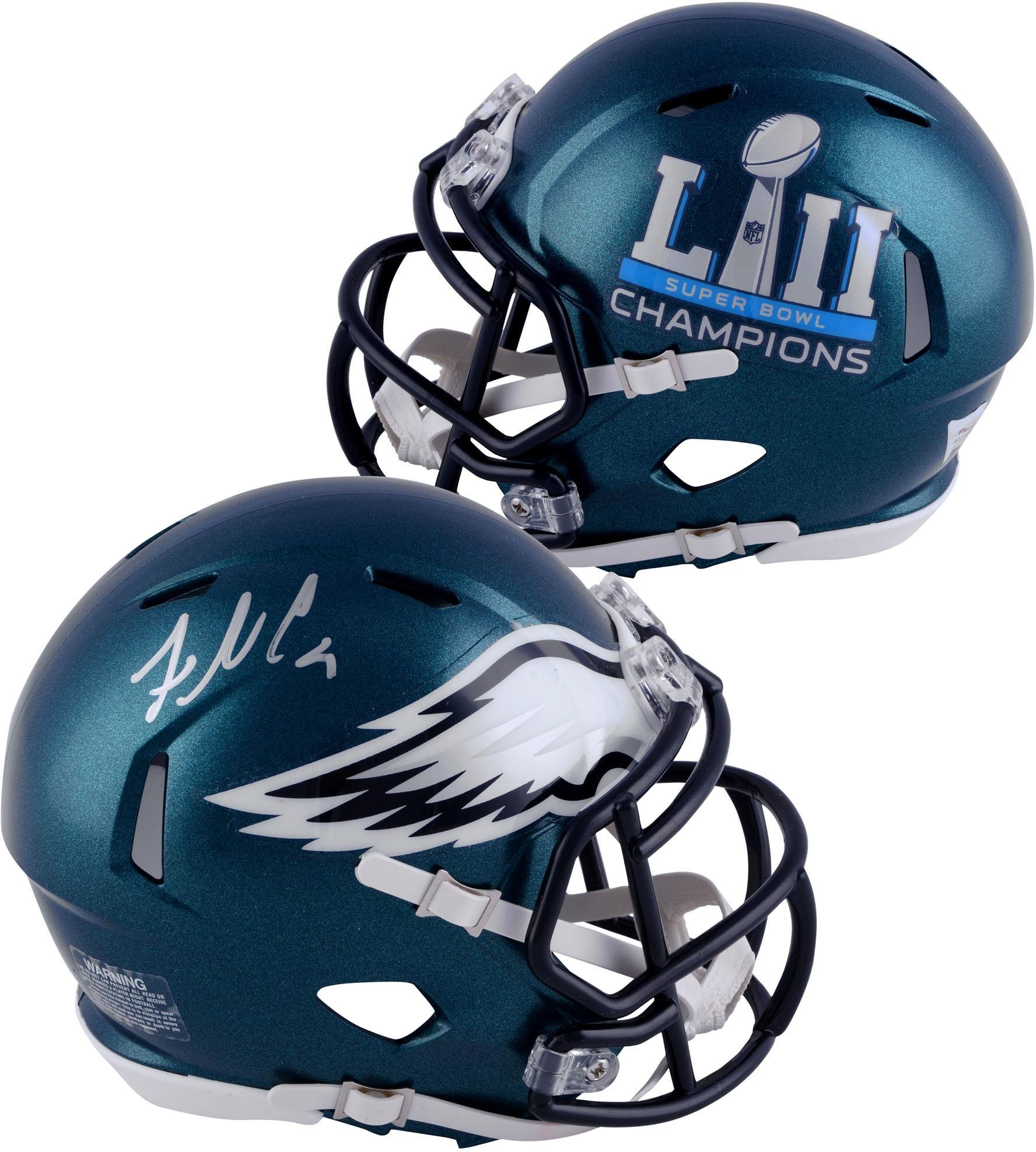 Fletcher Cox Philadelphia Eagles Autographed Riddell Speed Super Bowl LII Champions Mini Helmet Fanatics Authentic Certified