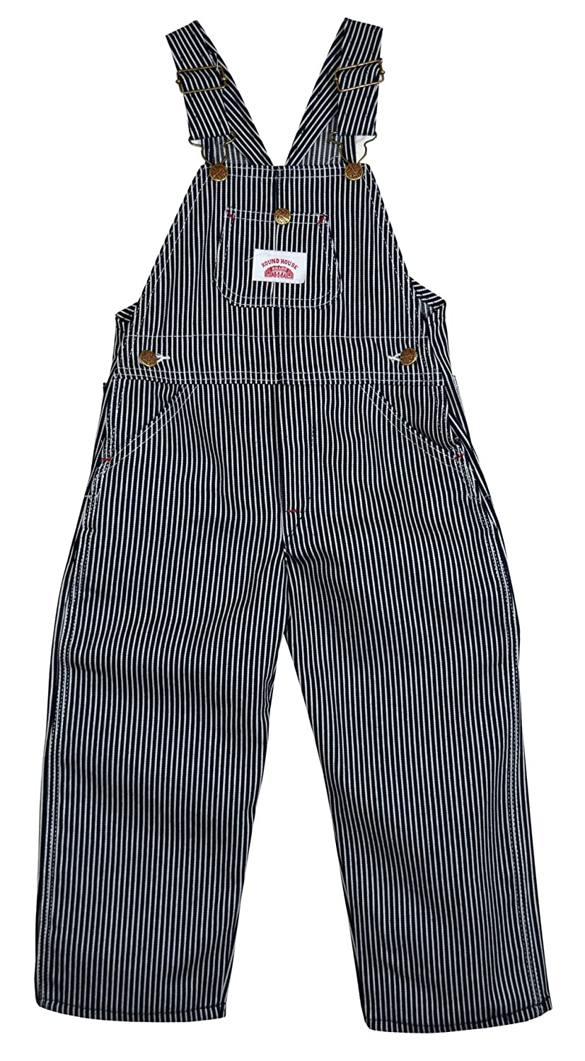 Round House Little Boys Stripe Bib Overall