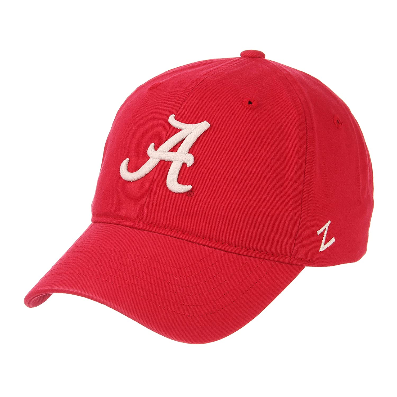 5b76f0387e7 Amazon.com   Zephyr NCAA Mens Relaxed Fit Scholarship- Adjustable Cotton  Crew Hat Cap-Alabama Crimson Tide   Sports   Outdoors