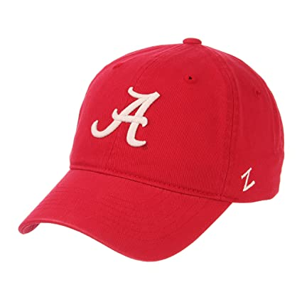 sneakers for cheap 8585f ec28e Zephyr NCAA Mens Relaxed Fit Scholarship- Adjustable Cotton Crew Hat Cap-Alabama  Crimson Tide