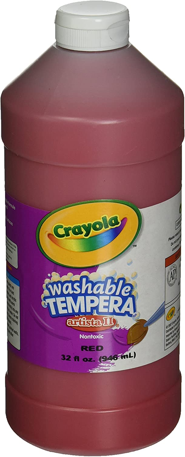 Crayola Washable Tempera Paint, Red Paint Craft Supplies, 32 Ounce