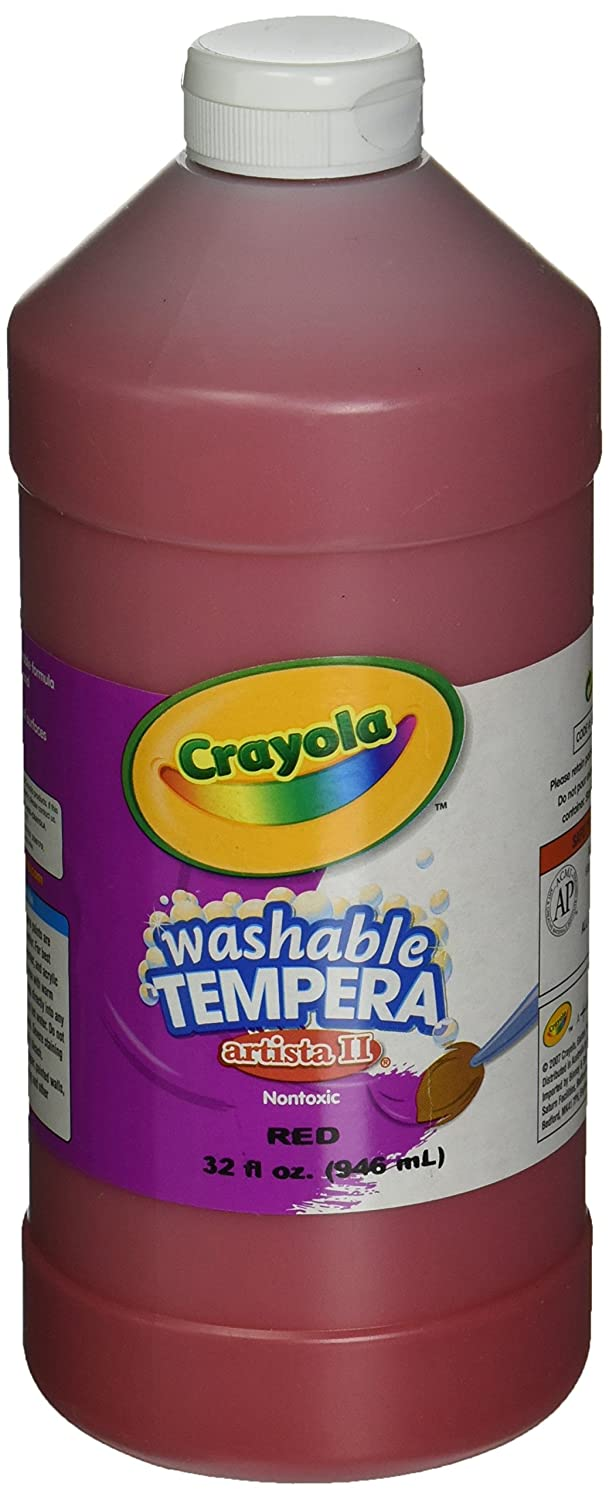 Crayola. 543132038 Artista II Washable Tempera Paint Red 32 oz   B004TVD1PW