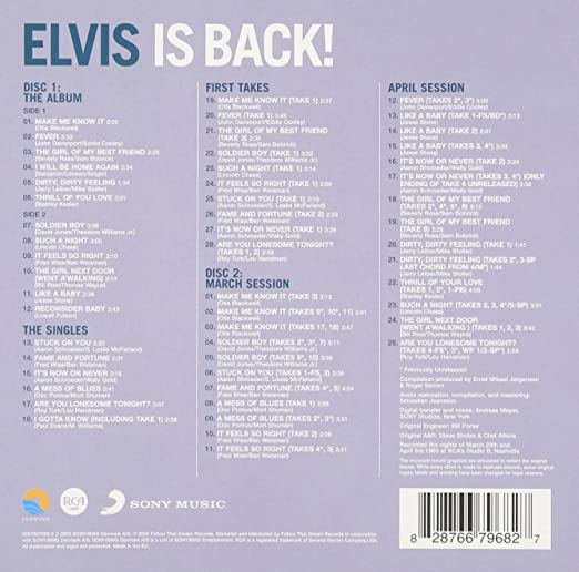 Elvis Presley Elvis Is Back Amazon Music