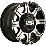 """Ion Alloy 187 Black Wheel with Machined Face and Lip (18x9""""/12x139.7mm)"""