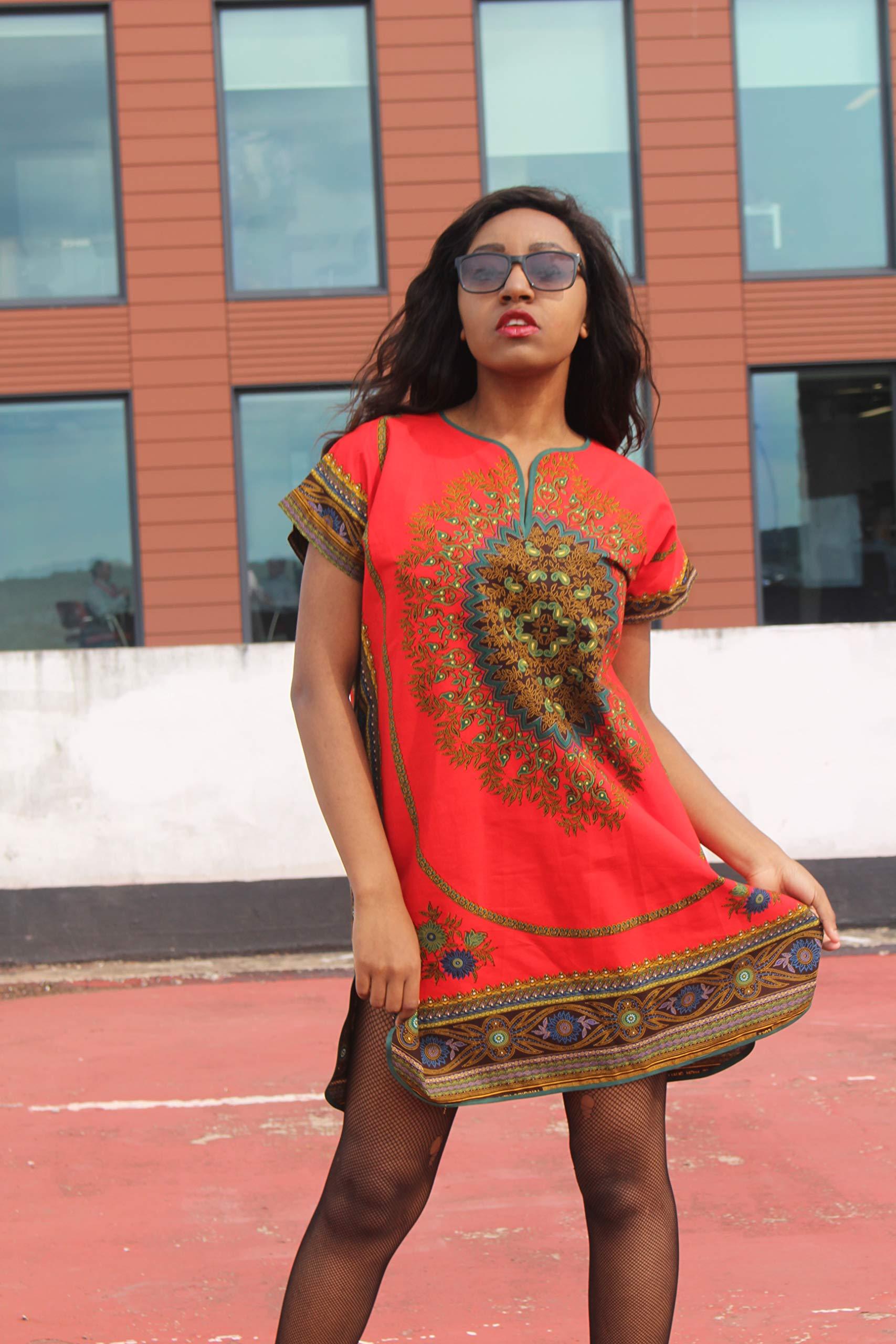 African Print Dress Wax Print Dress Festival Dress Bohemian Dress Boho Dress Continent Clothing Ethical Clothing Boho Dress Patterned Dress