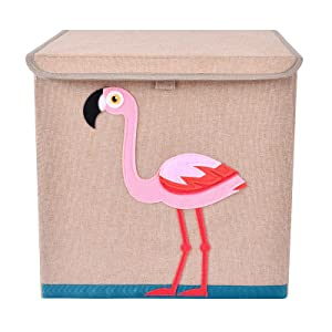 Bagnizer Large Toy Storage Chest Cute Animal Storage Bin with Flip-top Lid Collapsible Foldable Linen Toys Storage Trunk/Box/Basket for Baby Toddler Kids Nursery,13