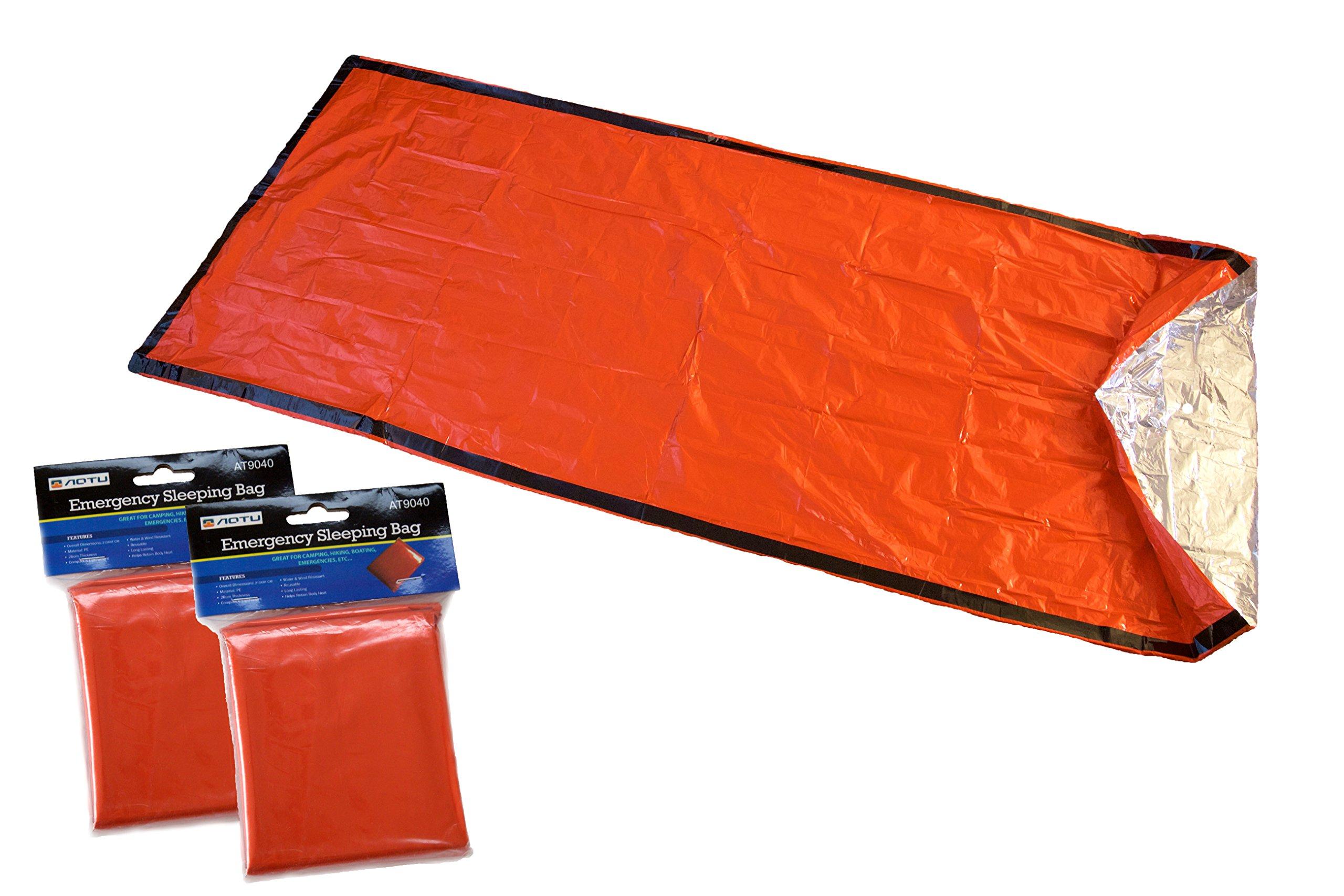 AOTU Emergency Sleeping Bag (2 Pack)