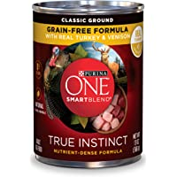 Purina ONE SmartBlend True Instinct Natural Grain-Free Classic Ground Formula Adult Wet Dog Food - (12) 13 oz. Cans