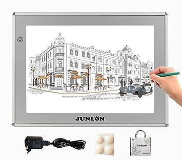 Junlon A4 Aluminio Tablero De Trazado Led Light Pad Box Para Dibujar