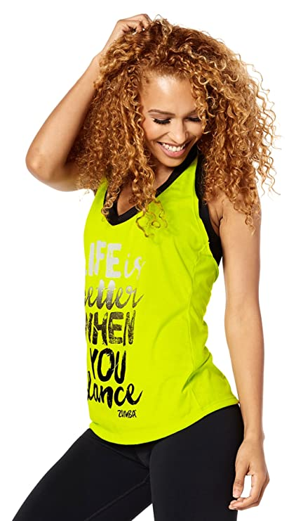 Zumba Fitness® - Camiseta sin Mangas con Texto «Life is Better When You Dance