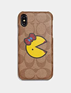 Coach iPhone XR Case in Signature Canvas with Ms. Pac-Man
