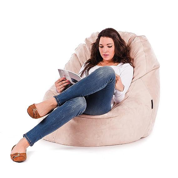 MiPuf - Puff Lounge Original - 80x115x90 cm - Tejido Polipiel Alta Resistencia - Doble Costura y Doble Cremallera - Relleno Incluido - Verde - 4 años ...