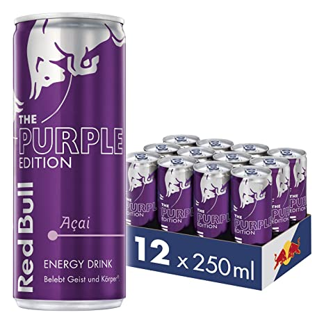 Red Bull Energy Drink Acai-Beere 12 x 250 ml Dosen Getränke Purple ...
