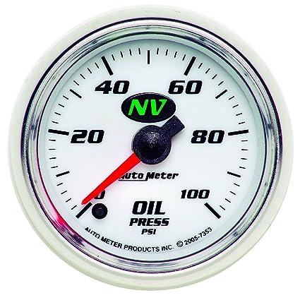 Auto Meter 5953 ES 2-1//16 0-100 PSI Full Sweep Electric Oil Pressure Gauge