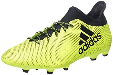 finest selection b32e9 2d2e0 adidas X 73 FG Chaussures de Football Homme, Multicolore (Solar Yellow  Legend Ink)