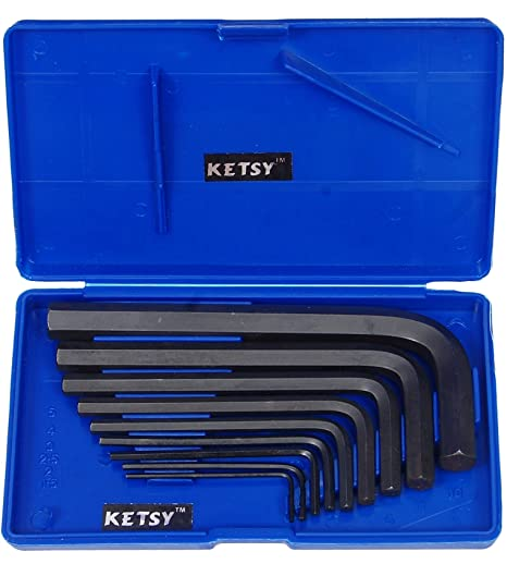 Ketsy 816 (Crv)Allen Key Set Of 9 Pcs (1.5, 2, 2.5, 3, 4, 5, 6, 8, 10 Mm)