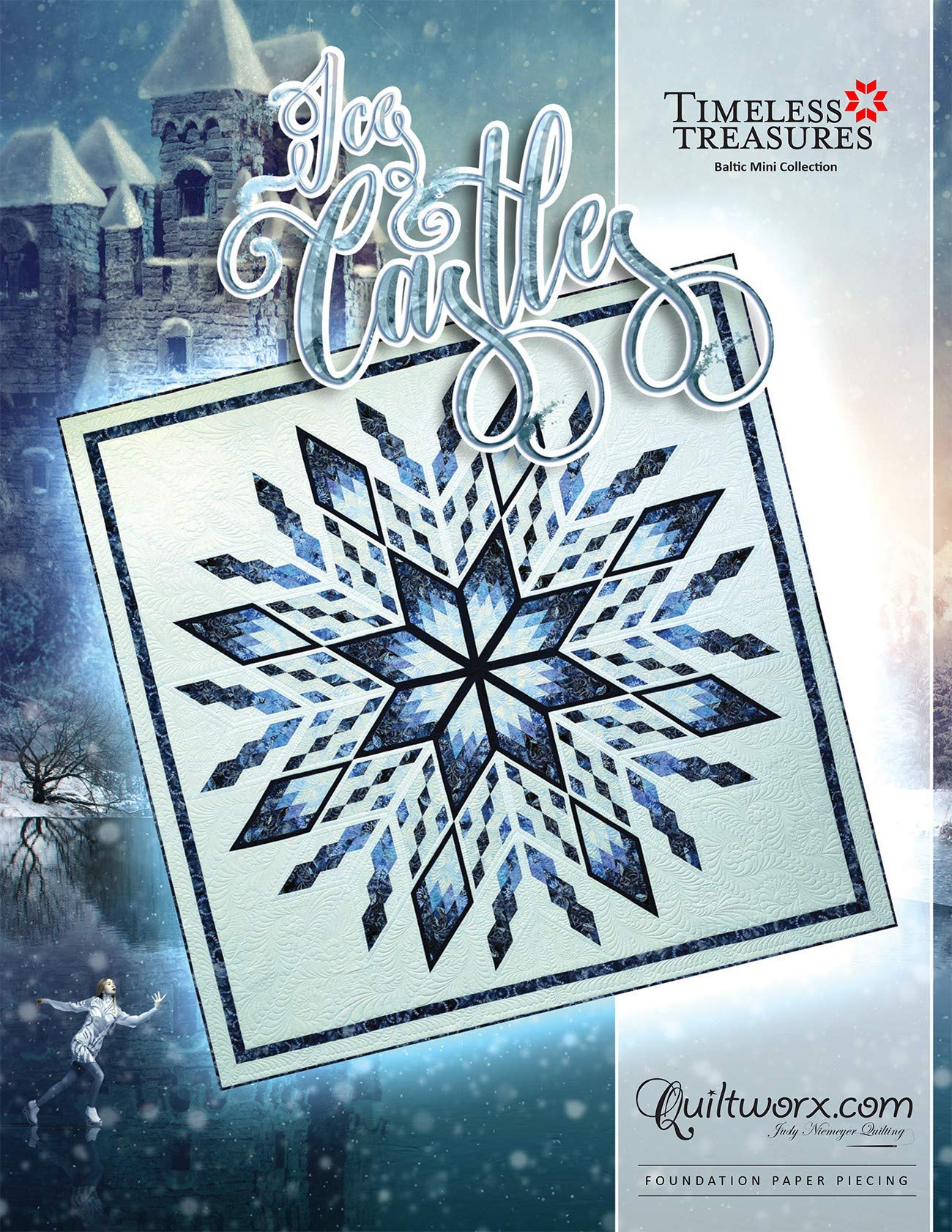Ice Castles Quilt Pattern by Quiltworx 100 inch Square by Judy Niemeyer Quilting