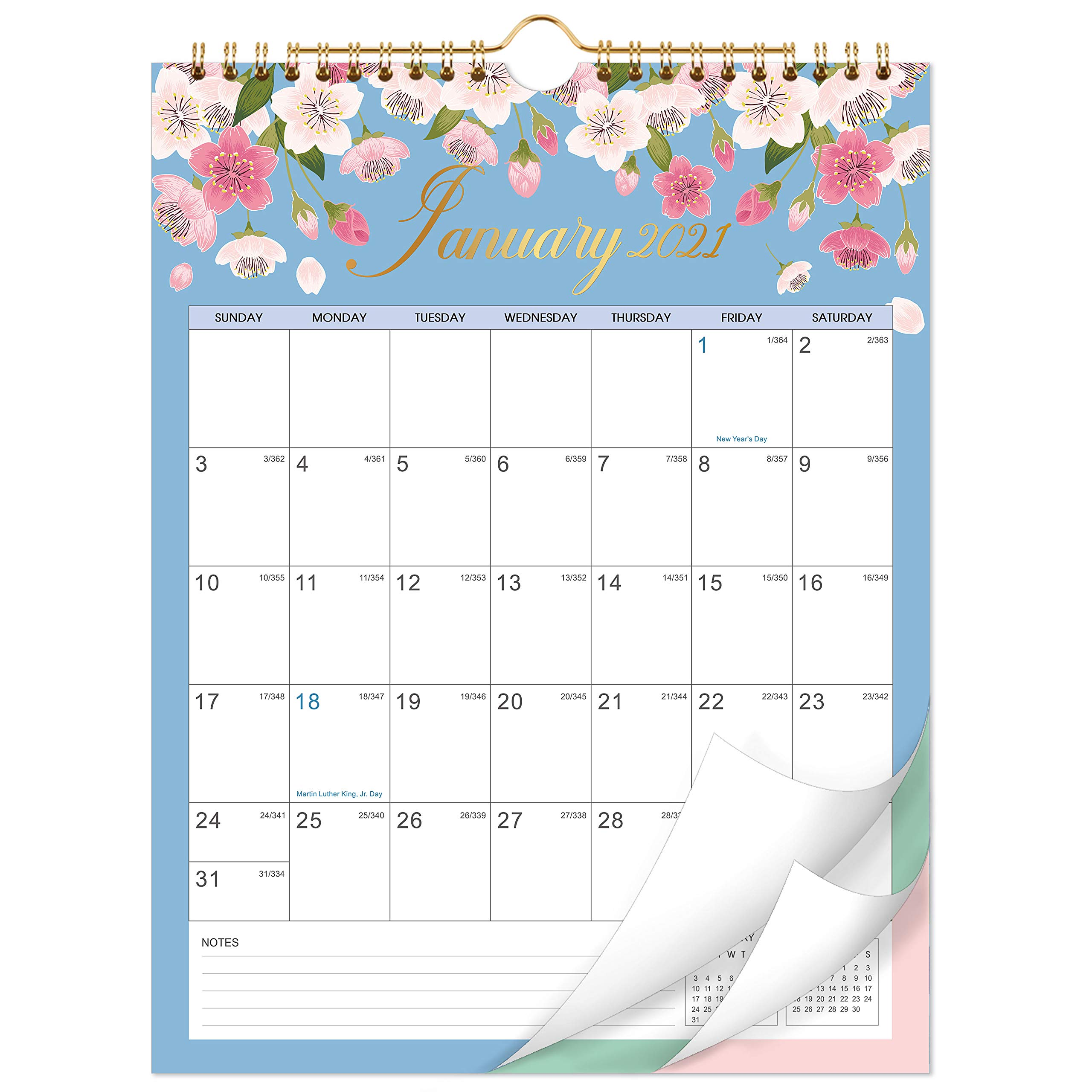 Large Wall Calendar 2022.2021 2022 Calendar 18 Monthly Wall Calendar With Thick Paper 8 5 X 11 Jan 2021 June 2022 Twin Wire Binding Hanging Hook Unlined Blocks With Julian Dates Floral Buy Online In India At Desertcart In Productid 181465264