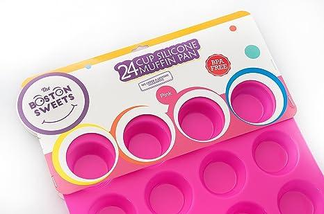 Amazon.com: Moldes para muffins y cupcakes de silicona ...