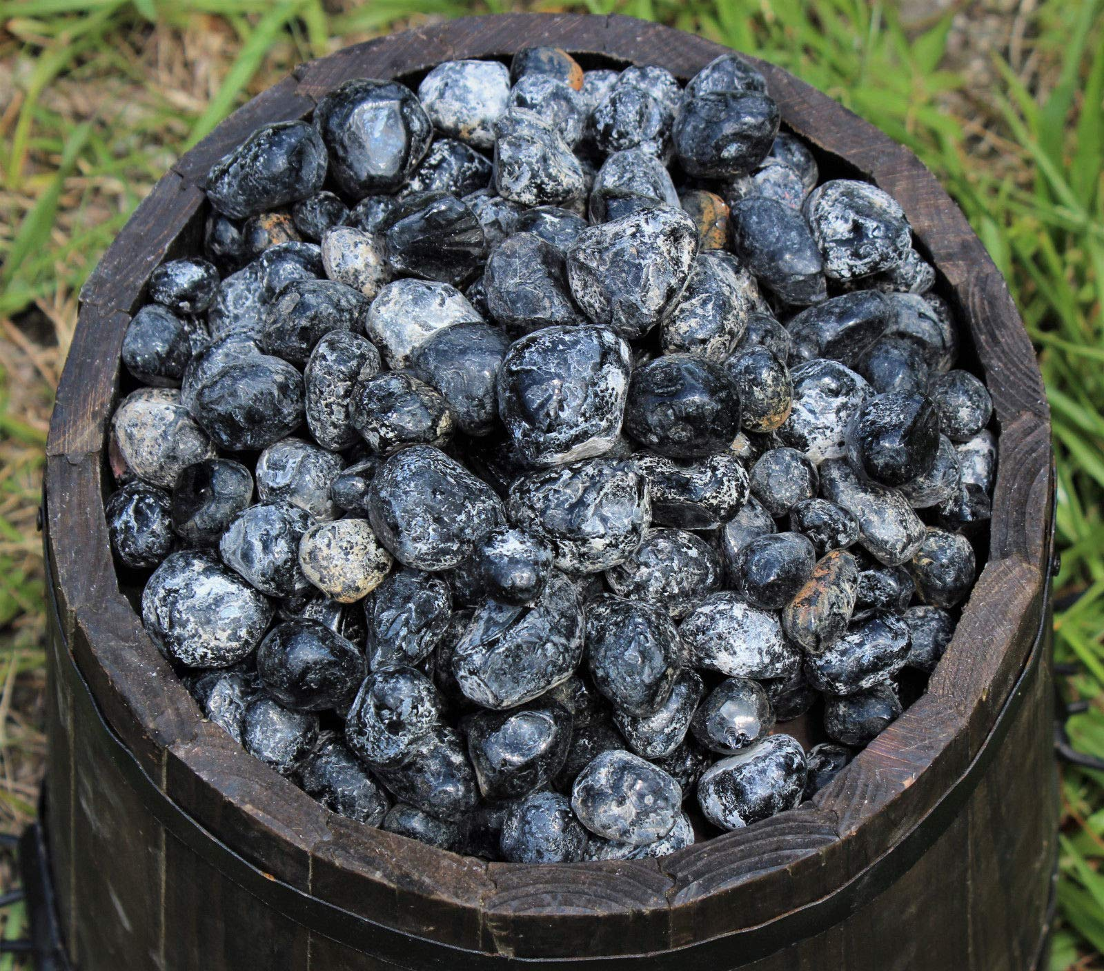 2 lb HUGE Bulk Lot Natural Rough Apache Tears (Black Obsidain Glass Raw Crystal)