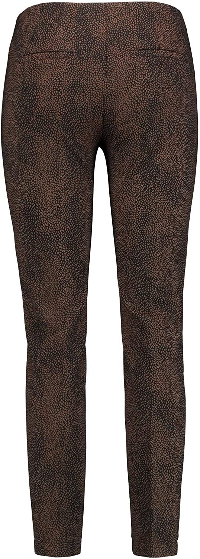 Gerry Weber Pantalon Femme Multicolore (Schwarz/ Braun 7102)