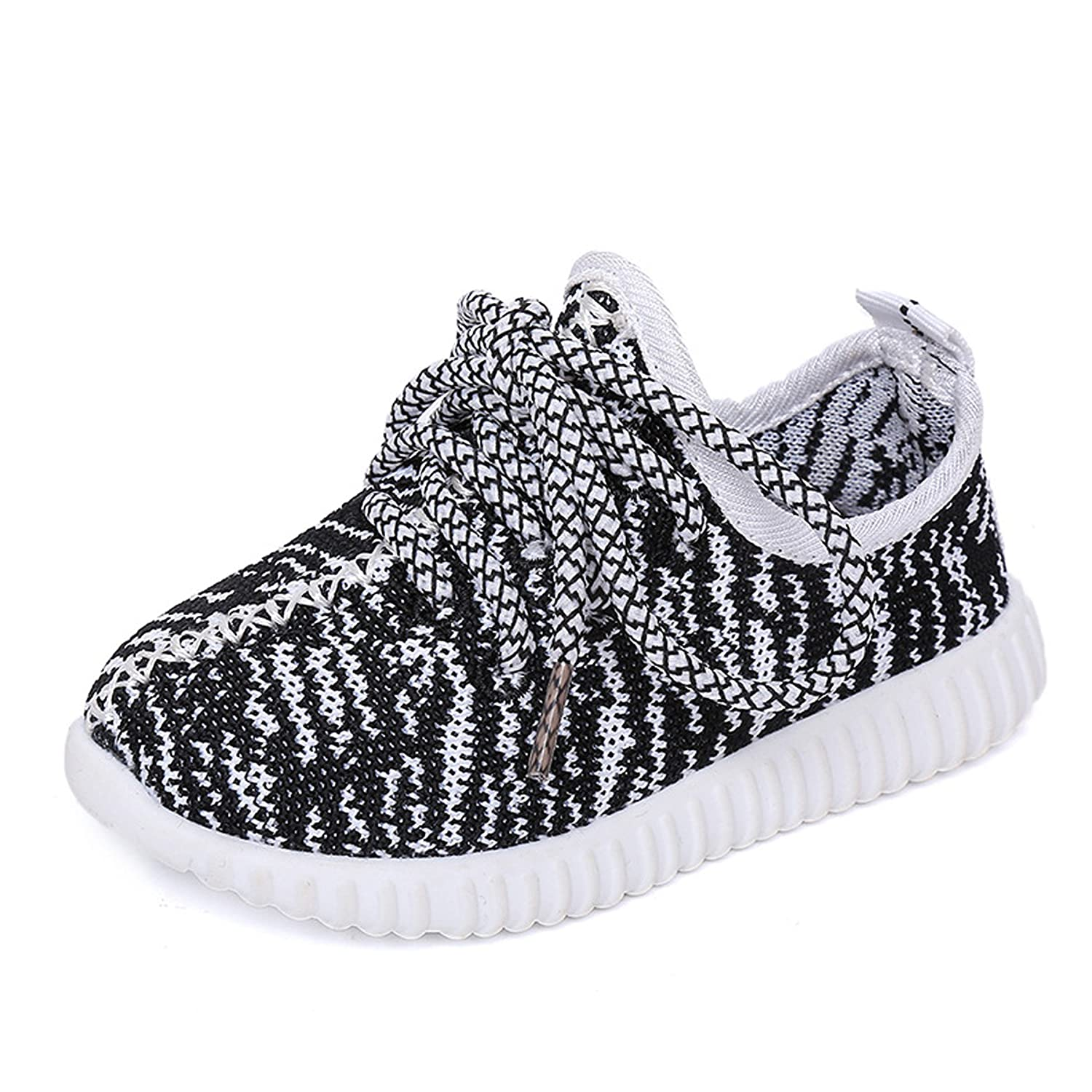 Nepretty Girls Breathable Running Shoes Boys Knit Lightweight Athletic Sneakers Walking