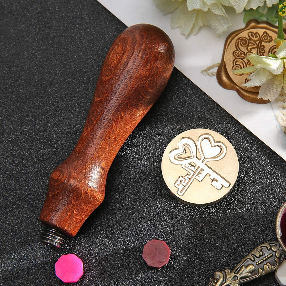 Prosperveil Wax Seal Stamp Vintage Personalised Sealing Wax Stamp for Christmas Wedding Party Invitation Card DIY Craft Letter Envelope Decor Birthday Cake