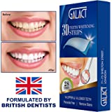 3D Teeth whitening strips by Galact -28 strips-Dental Enamel Safe Teeth Bleaching Treatment for Crystal Smile Non-Peroxide Whitener Kit Professional Remover of Teeth Stain for Double Elastic Gel Mint Flavor.