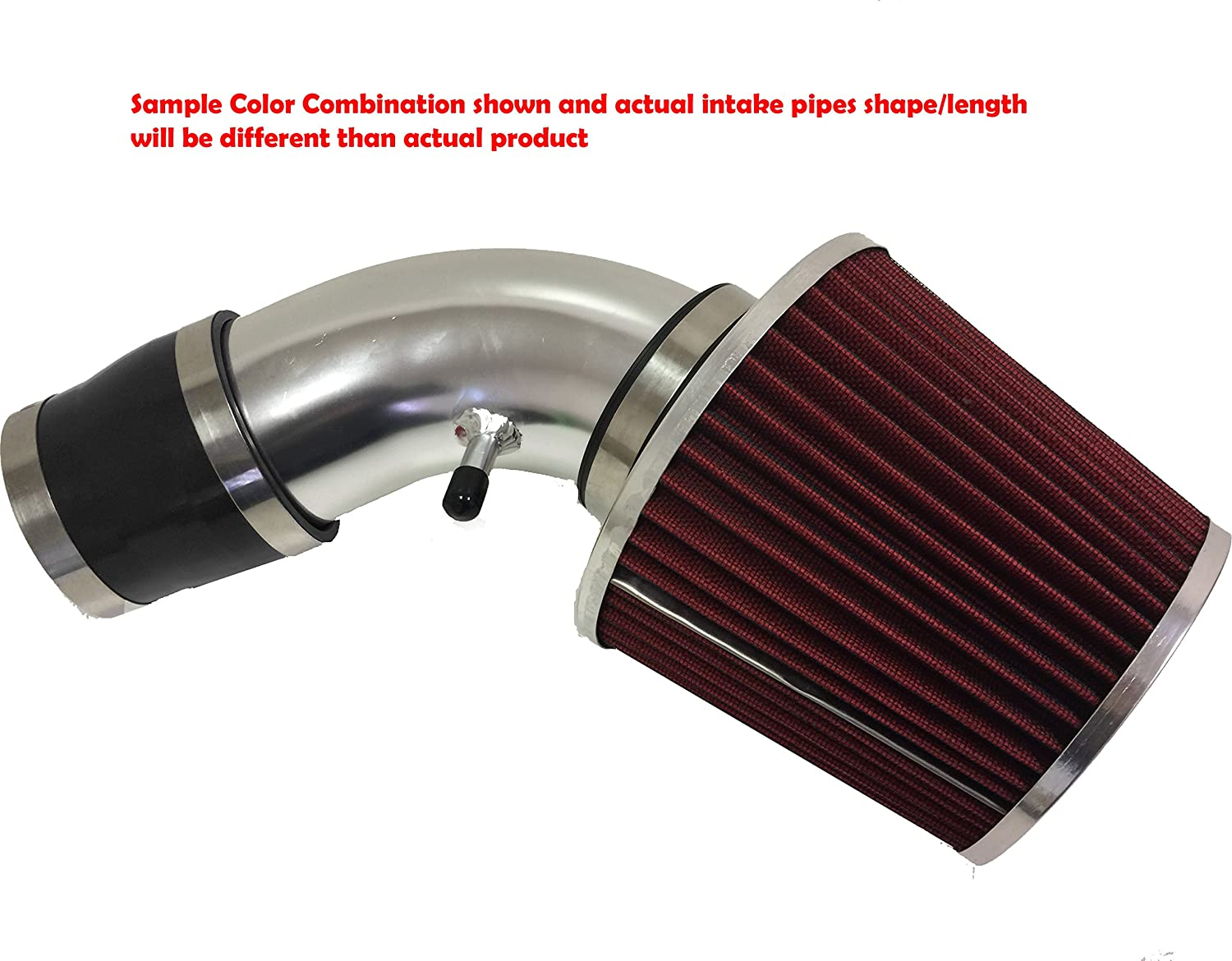 Blue Filter Accessories 2PC Design 1996 1997 1998 1999 Chevy K1500 Suburban 5.0L 5.7L V8 Air Intake Filter Kit System