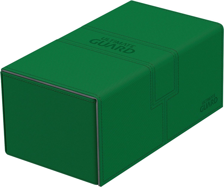 Ultimate Guard Twin Flip´n´Tray Deck Case 200+ Caja de Cartas Tamaño Estándar XenoSkin Verde: Amazon.es: Juguetes y juegos