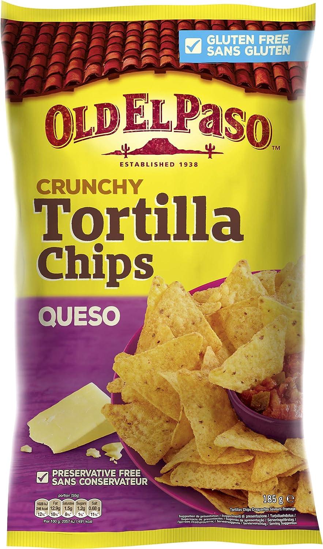 Nachos Mexicanos Tortilla Chips Queso, Pack 185 gr: Amazon.es: Alimentación y bebidas