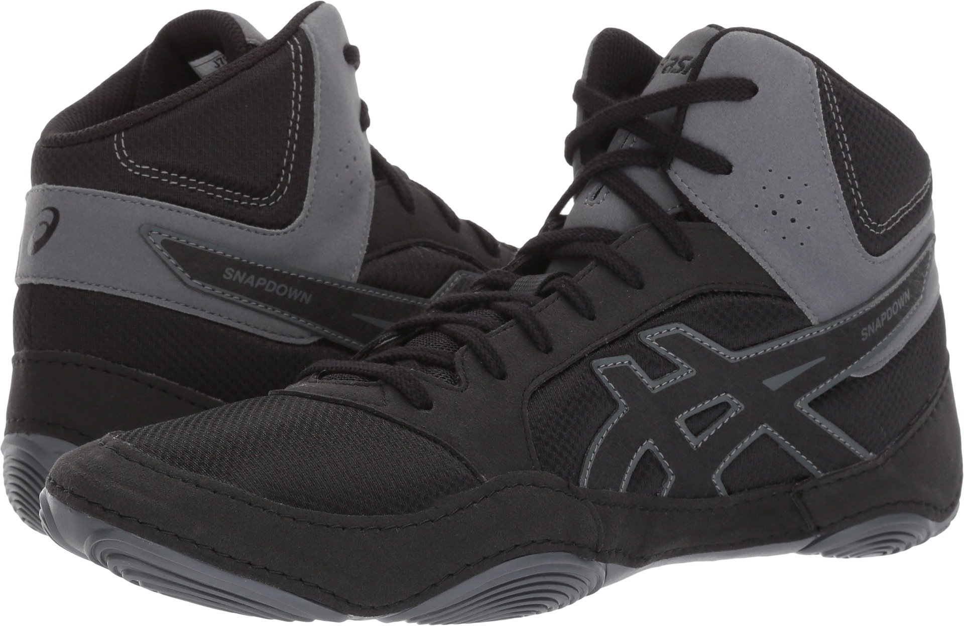 ASICS Men's Snapdown 2 Wrestling Shoe, Black/Black/Carbon, 6 Medium US by ASICS