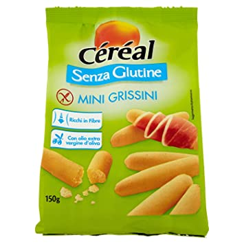 Cereal Mini palitos de pan sin gluten 150g gratuito: Amazon ...